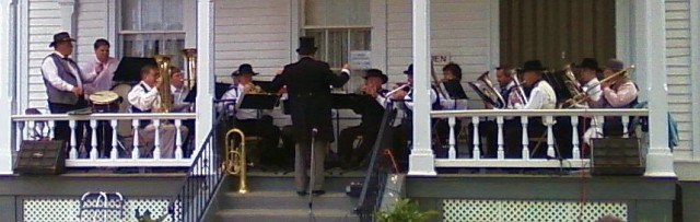 The Entire Band on the Porch
